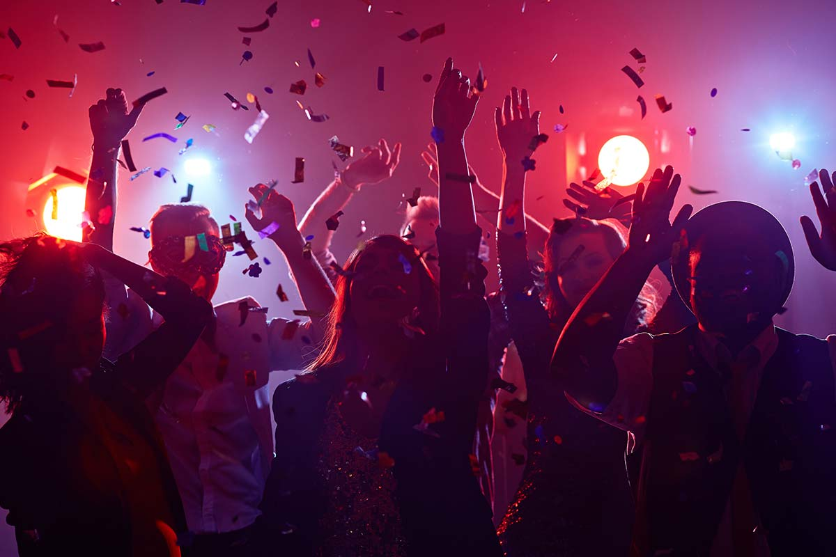 Party people celebrating