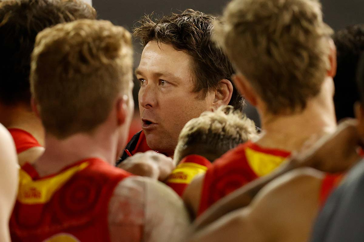 Article image for Gold Coast coach responds to report alleging 'culture concerns and boozy warning signs'