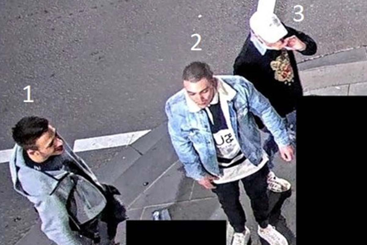 Image of people police want to speak to in relation to CBD glassing