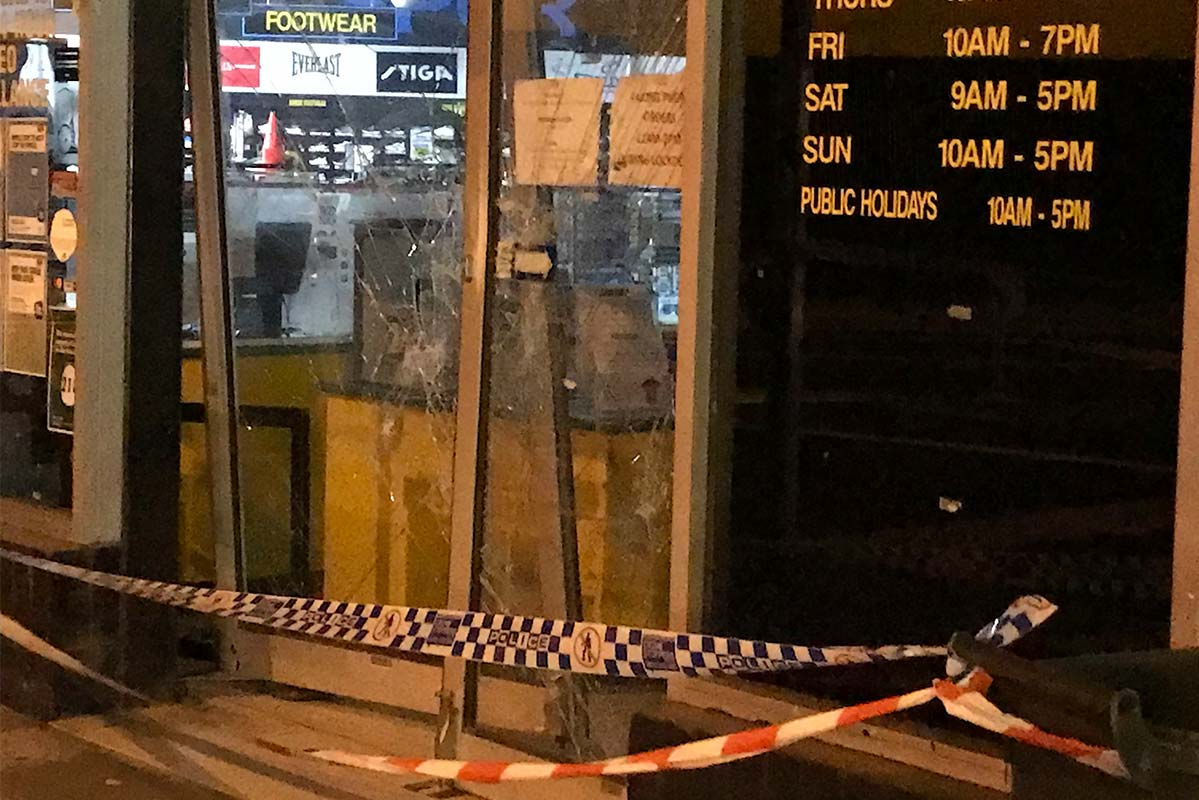 Article image for Northcote sports store targeted in early morning ram raid