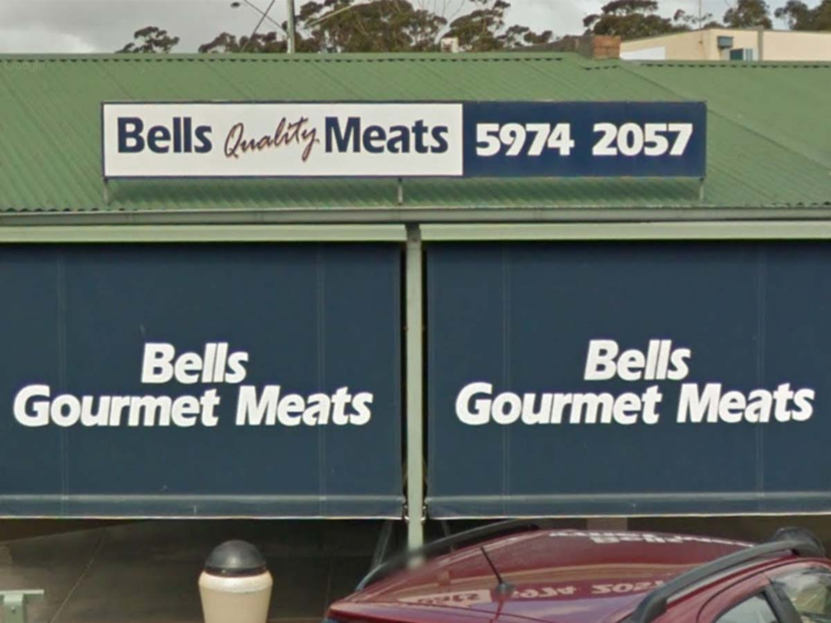 Fake QR codes pasted over COVID check-in posters at a Mornington Peninsula butcher