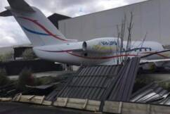 Dramatic scenes at Essendon Airport as plane smashes into other aircraft
