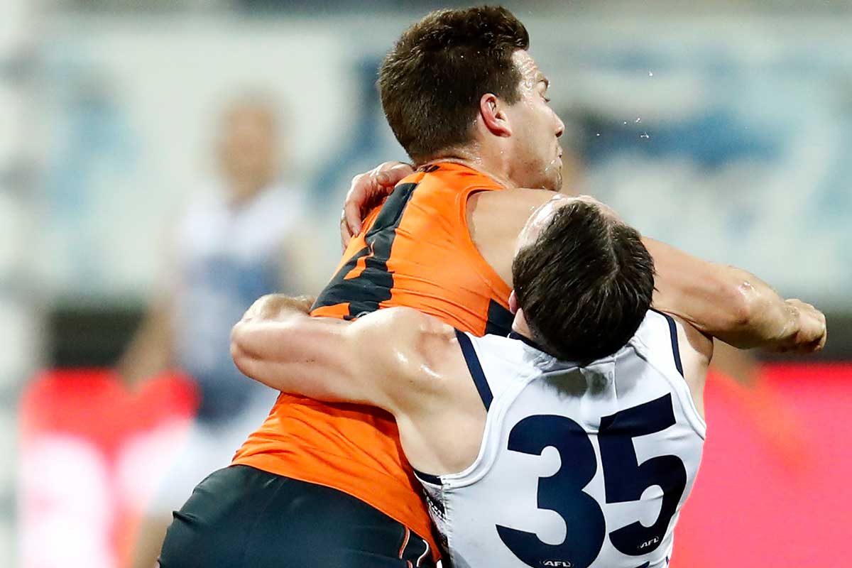 Article image for Toby Greene cops two-game ban for hit on Patrick Dangerfield