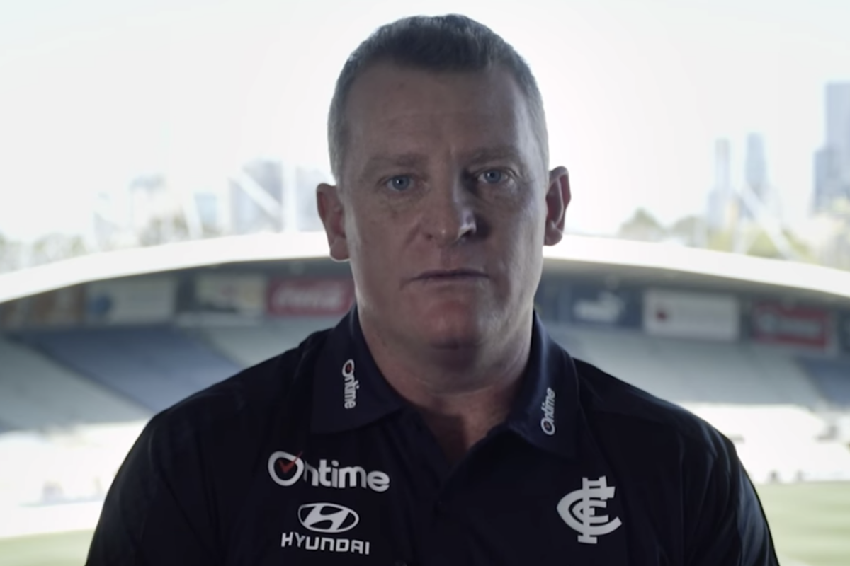 Article image for What Michael Voss thought his 'point of difference' was in Carlton appointment