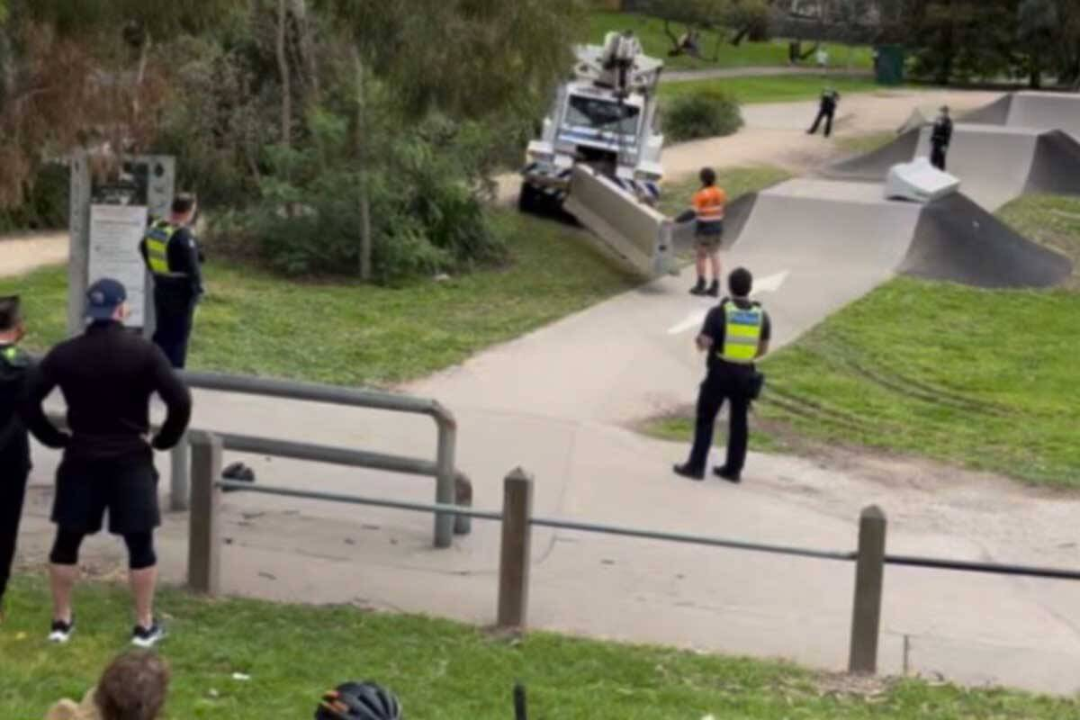 Article image for Police called, concrete barriers installed, to stop kids using suburban BMX park