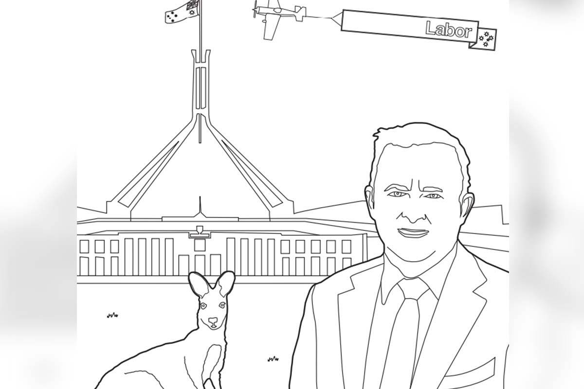 Article image for Australian Labor Party releases 'bizarre' colouring book