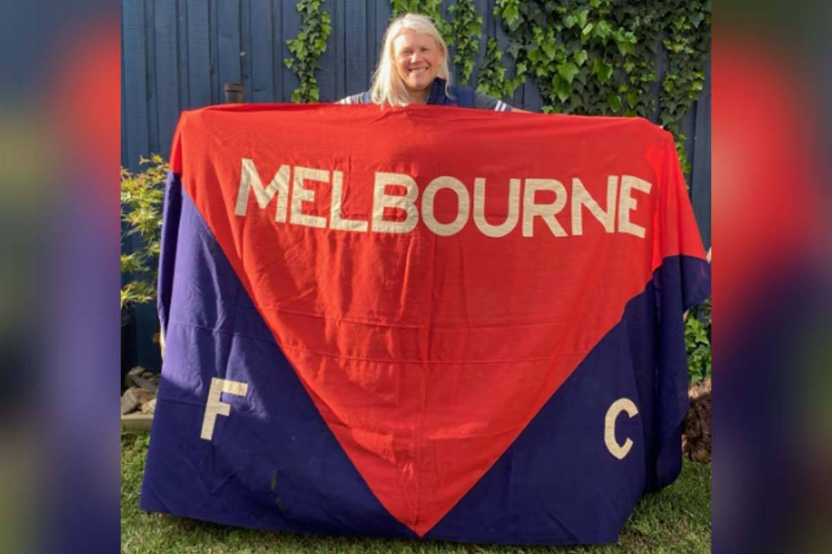 Article image for The grand old flag that flew at the MCG the last time the Demons won the premiership