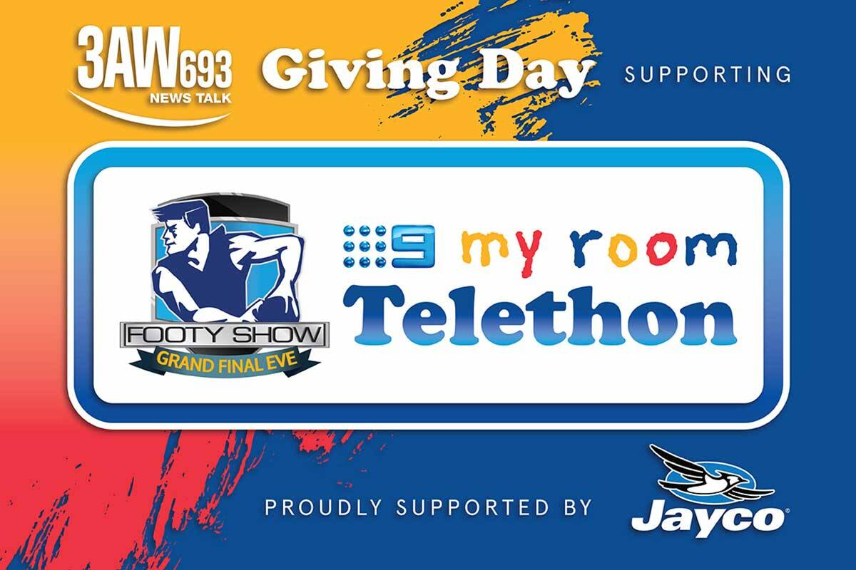 Article image for DONATE: My Room Giving Day on 3AW