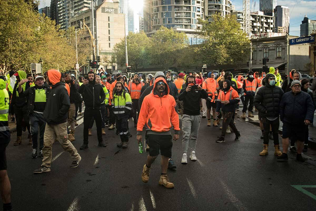 Article image for Master Builders Association condemns rioters over CBD protest