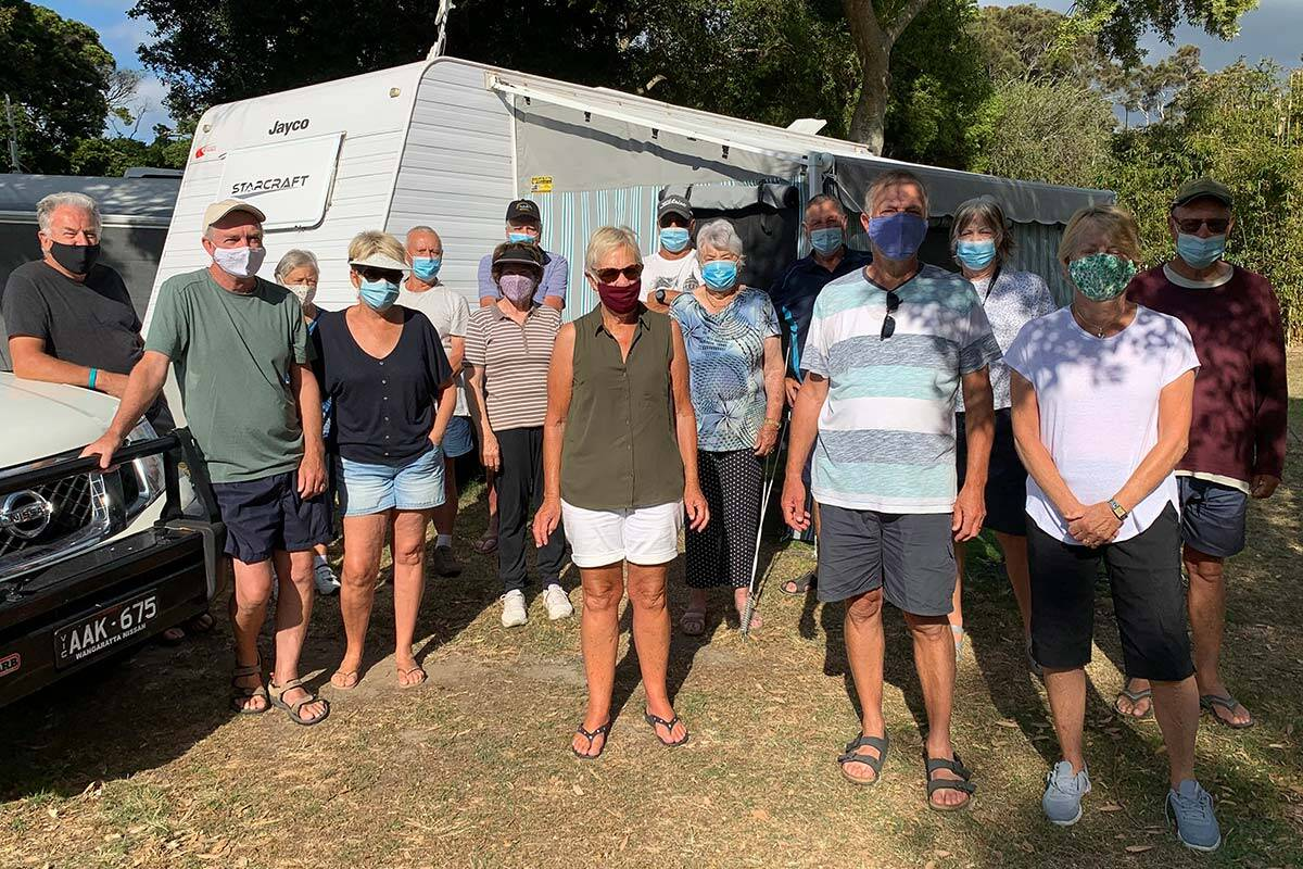 Article image for Victorians stranded in NSW caravan park say they've been 'totally dumped'