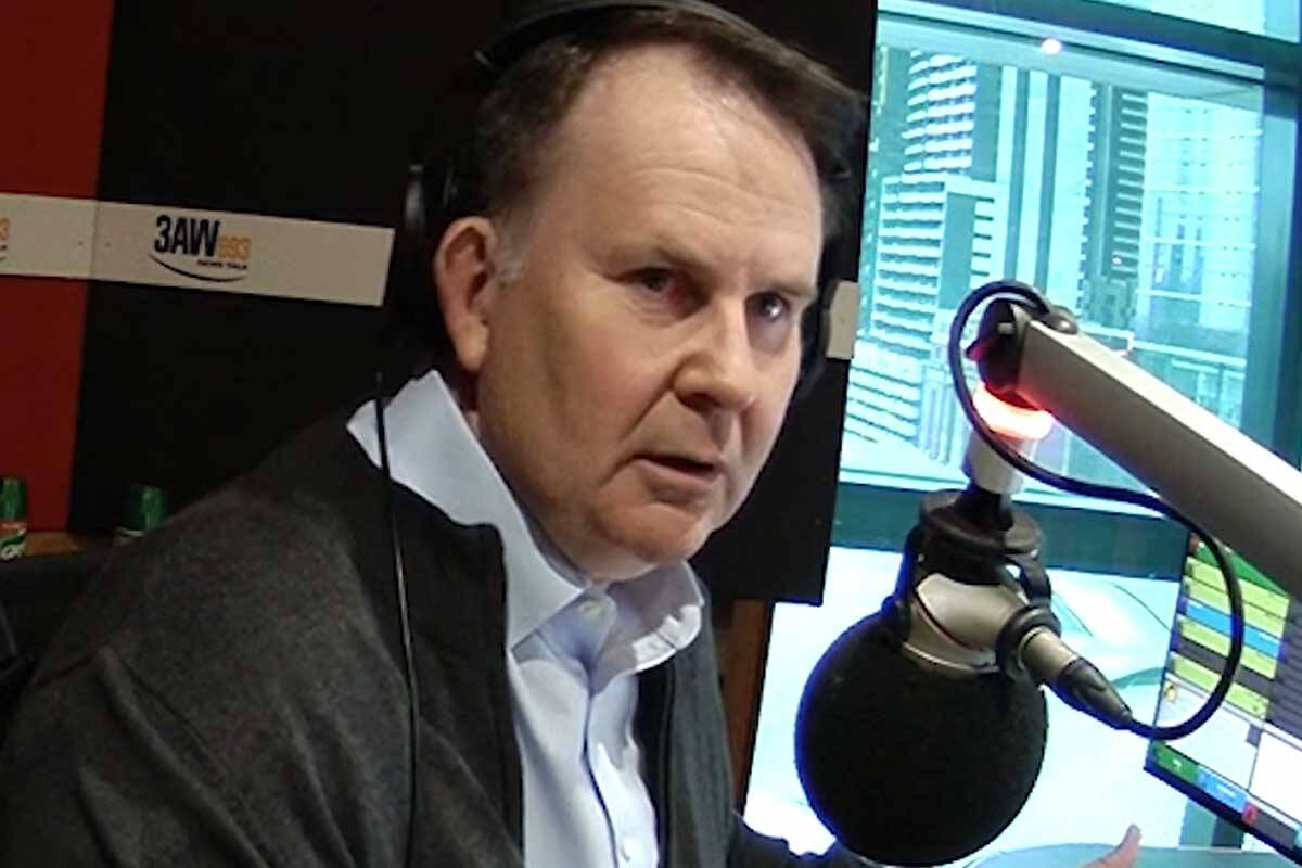 Article image for The moment Tony Jones realised live on-air Melbourne was being shaken by an earthquake