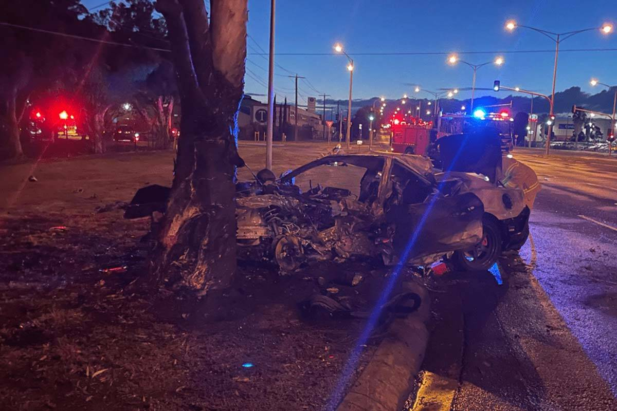 Article image for Driver lucky to be alive after fiery Yarraville crash