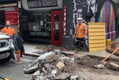 CBD barber 'burst into tears' when she saw the state of the path outside her shop last night