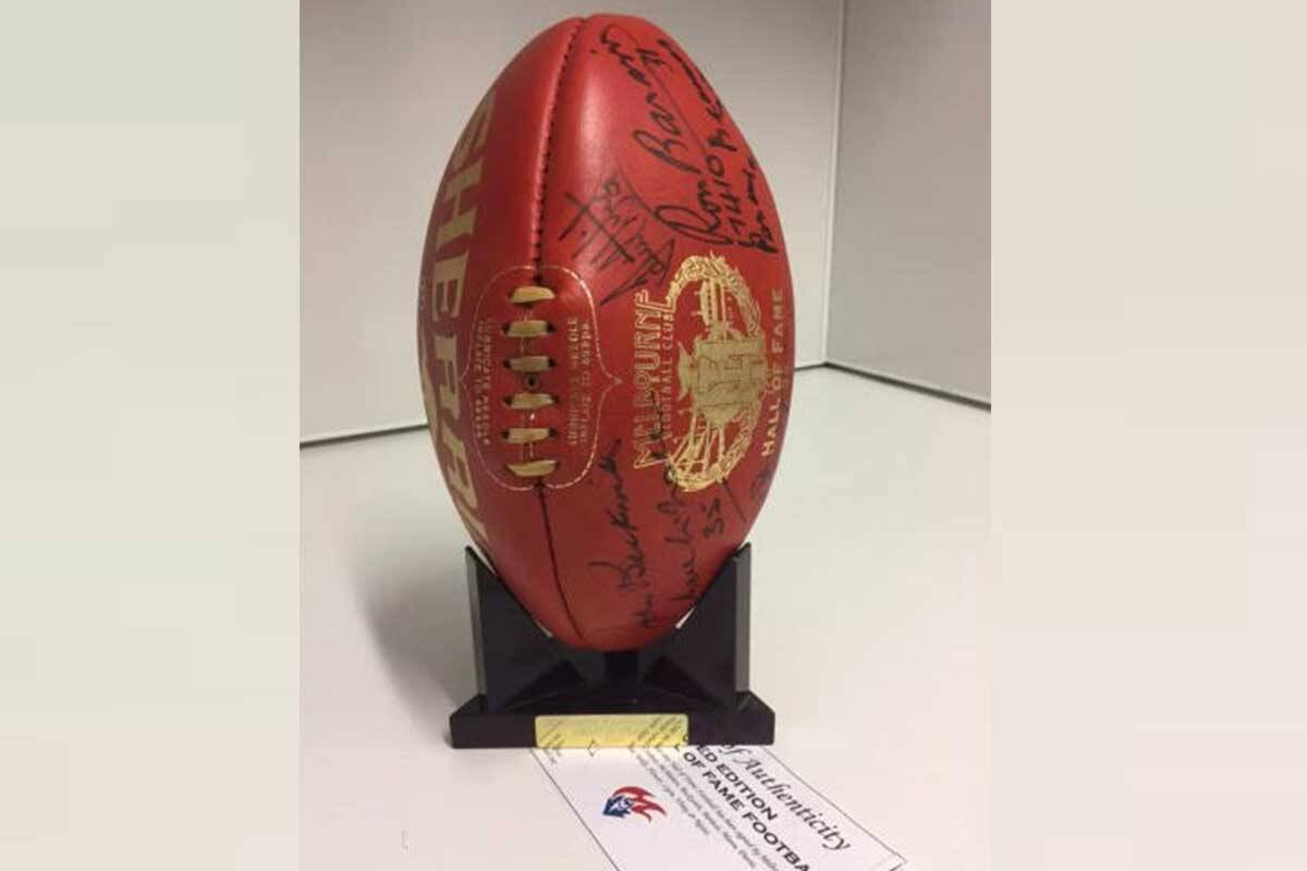 Article image for Why Cherie parted with $15,000 for this piece of footy history!