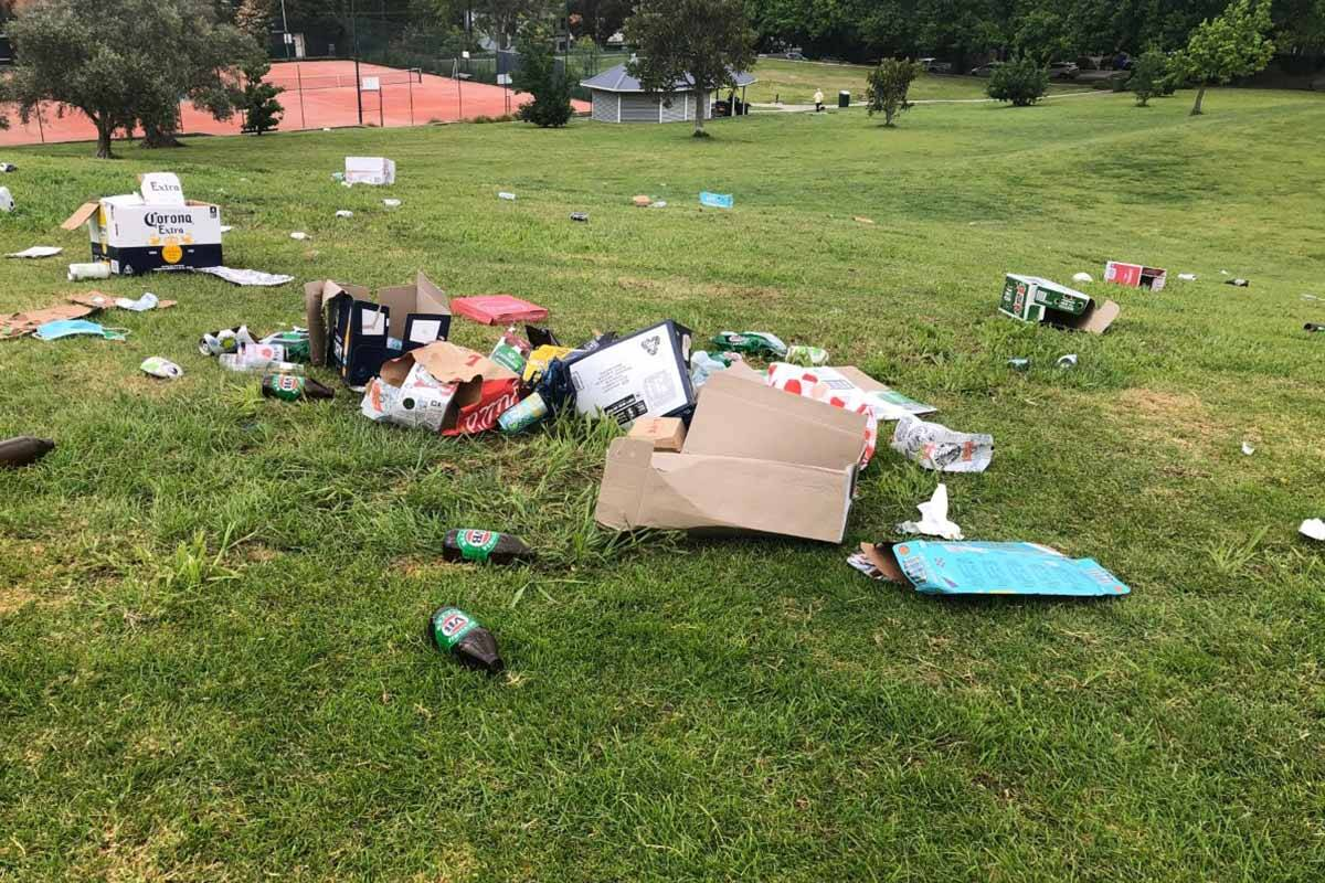 Article image for Local park left trashed, vandalised, by partying teens breaching COVID-19 restrictions