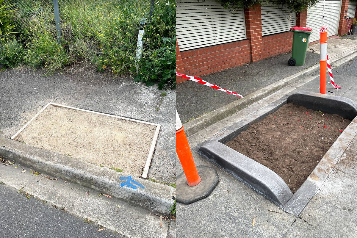 Article image for Council removes plant box, only to replace it with … a plant box